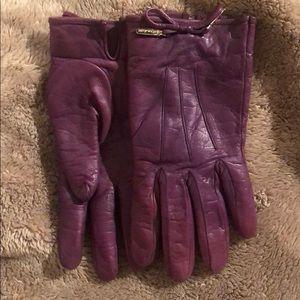 Purple Coach Gloves